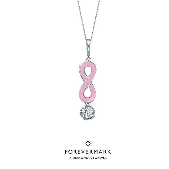 Forevermark Endlea Pendant with Pink Enamel