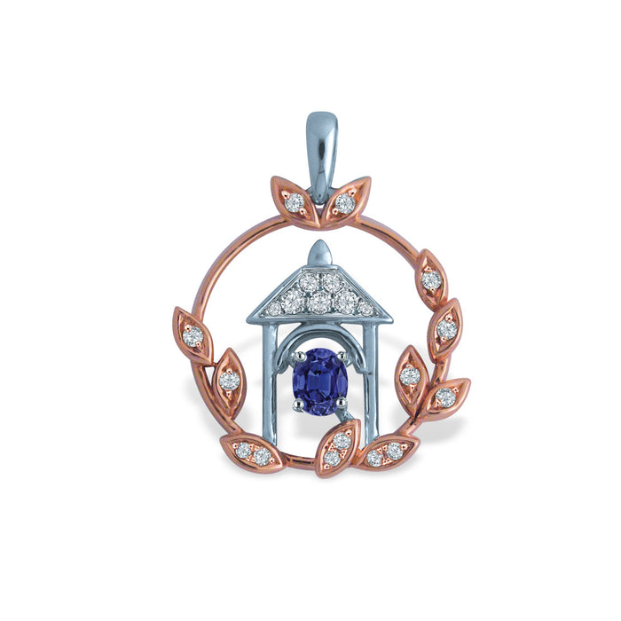 Magical Gateway Sapphire & Diamond Pendant (10K Gold)