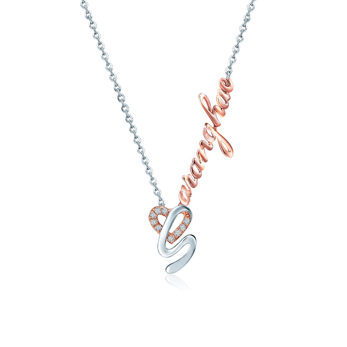 Saranghae Diamond Necklace (10K Gold)
