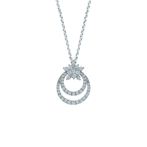 Christmas Merry Sparkle 18K Gold Diamond Pendant
