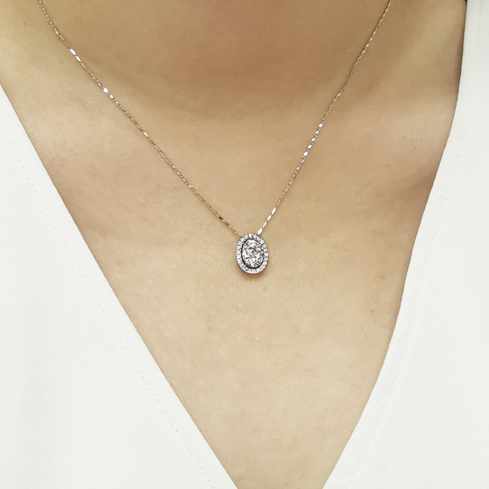 Eternal Happiness 18K Gold Diamond Pendant