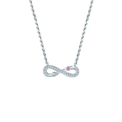 Infinite Diamond Necklace in White Gold