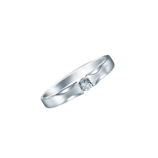 Cherish Pure Love Male Diamond Wedding Ring (PT950 Platinum)