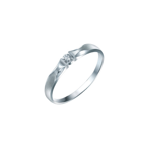 Cherish Pure Love Female Diamond Wedding Ring (PT950 Platinum)