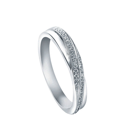 True Promise Female Diamond Wedding Ring (18K Gold)