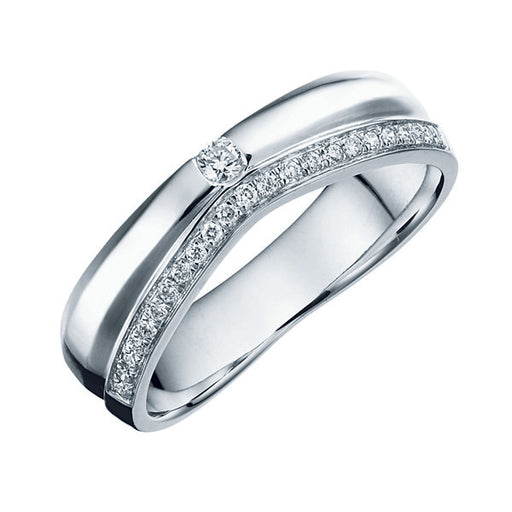 Eternal Pure Love Female Diamond Wedding Ring (Platinum)
