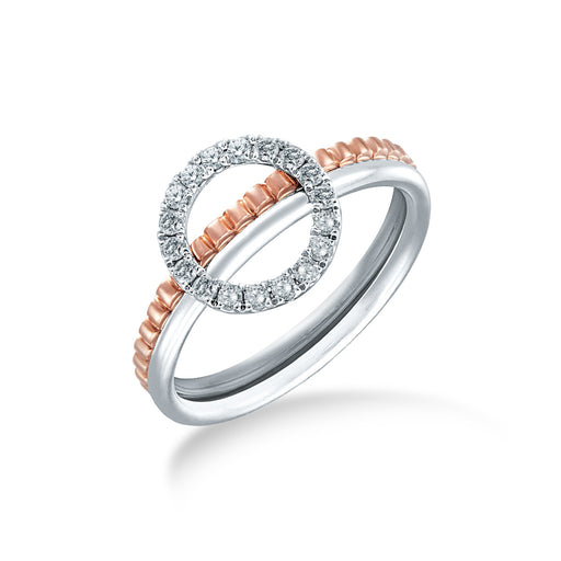 Round & Round Diamond Ring (10K gold)