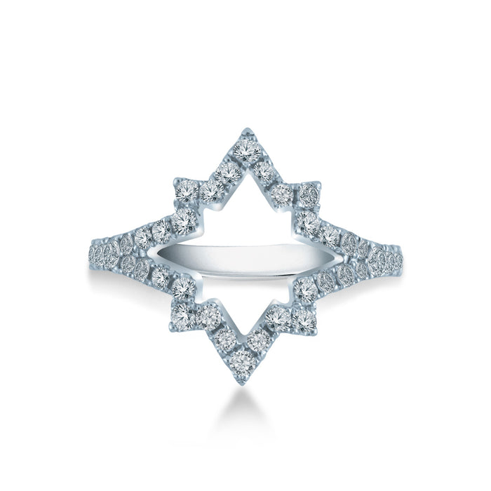 Sparkling Star Diamond Ring (10K Gold)