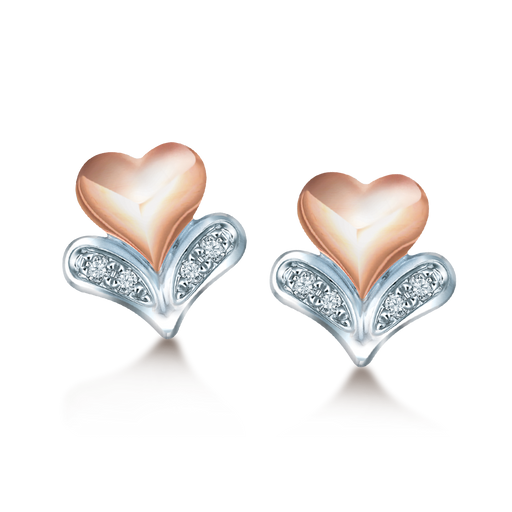 Lovepresso Diamond Earrings (18K Gold)