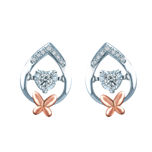 Double Fortune Dancing Diamond Earrings (18K Gold)
