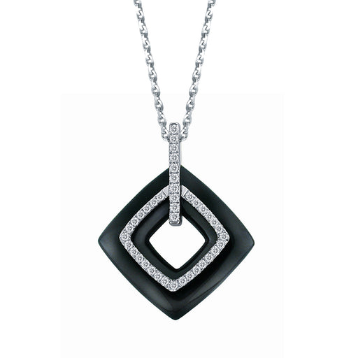 Bedazzled Dusk Diamond & Gemstone Pendant in 18K White Gold