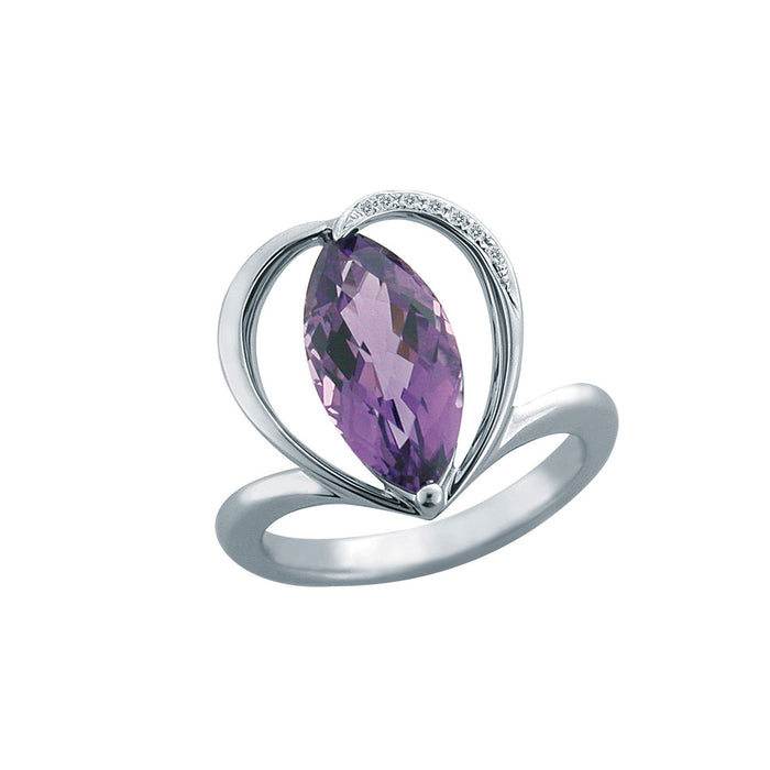 Ami Amethyst Diamond Ring (18K Gold)