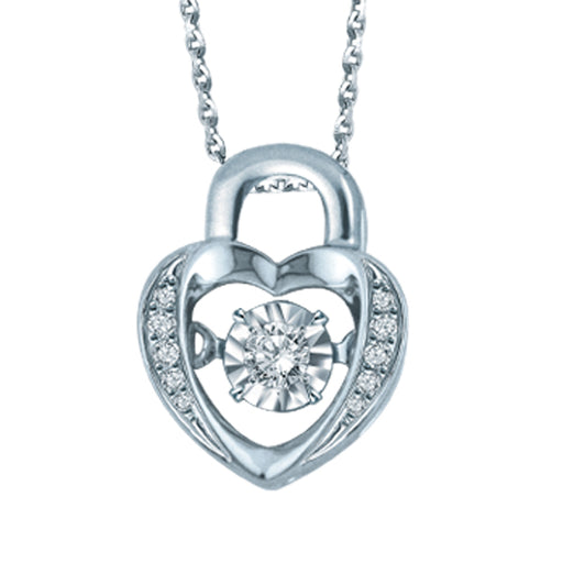 Lock of Love Dancing Diamond Necklace (18K Gold)