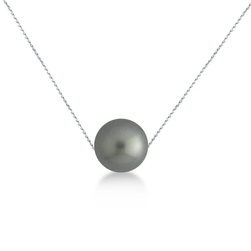 Charlotte Tahiti Pearl Necklace in 18K White Gold