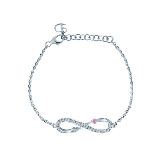 Infinite Diamond Bracelet in White Gold