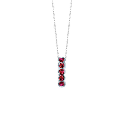 Seven Beats Pendant in Ruby