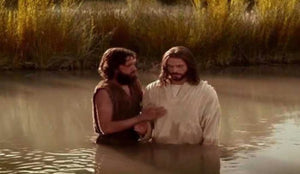 The Father's blessing and the baptism of Jesus
