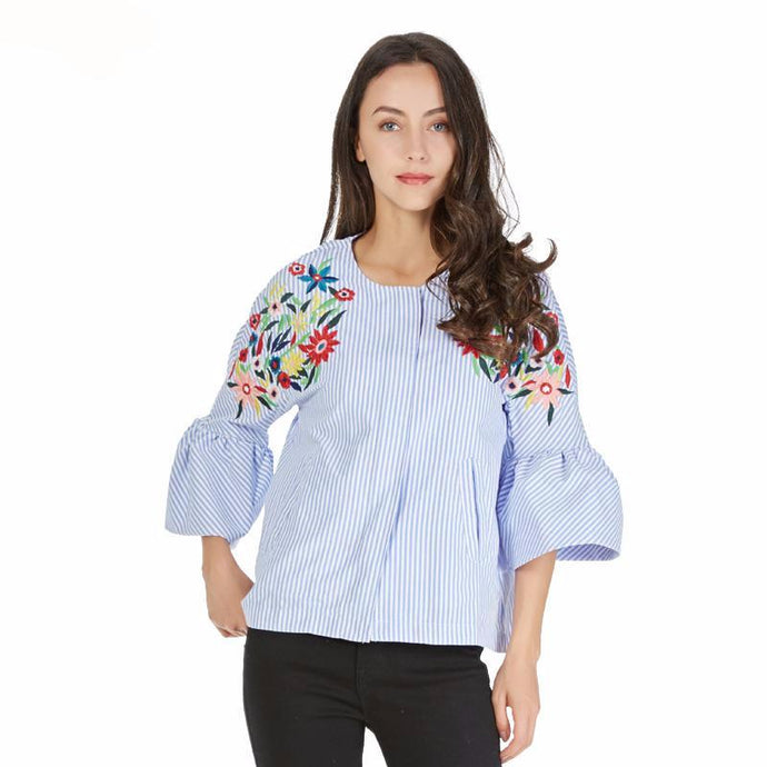 Charmy Floral Embroidered Top