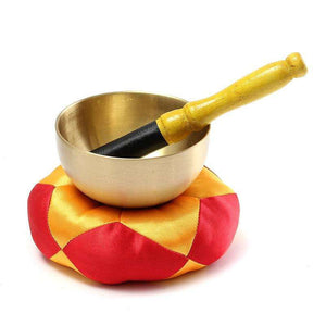 Brass Singing Bowl Set w/ Cushion and Mallet- 3.5in