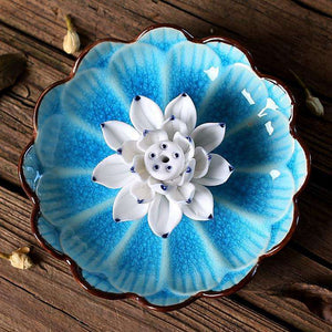 Blue Lotus Flower Incense Burner, 4.5in