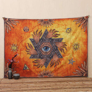 Unique Spiritual Printed Large Wall Tapestry, 78x57in