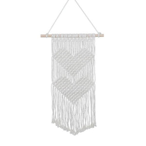 Hearts in Love Macrame Wall Hanging