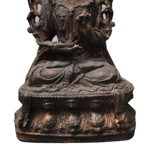 Pure Bronze Goddess of Compassion Kuan Yin Statue