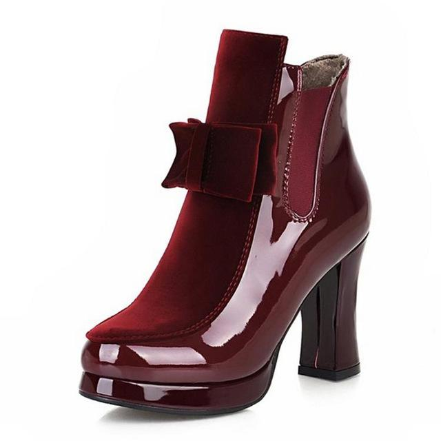 premium selection 72062 7038a Shoes-2018 New Fashion 100% Leather Red Bottom Sole Women's High Heels Boots