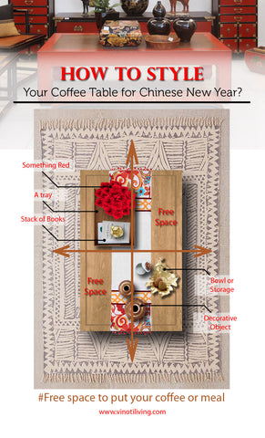 how to style your coffee table for Chinese New Year