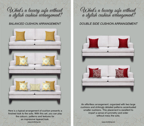 cushion arrangement tips for sofa
