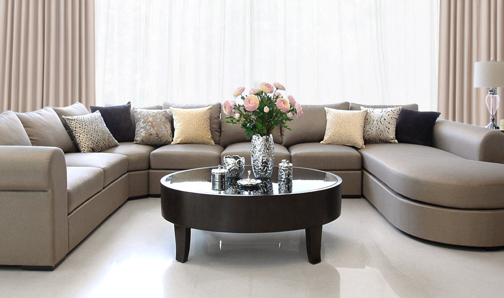 Tuscany U-shape Sofa and Boston Coffee Table