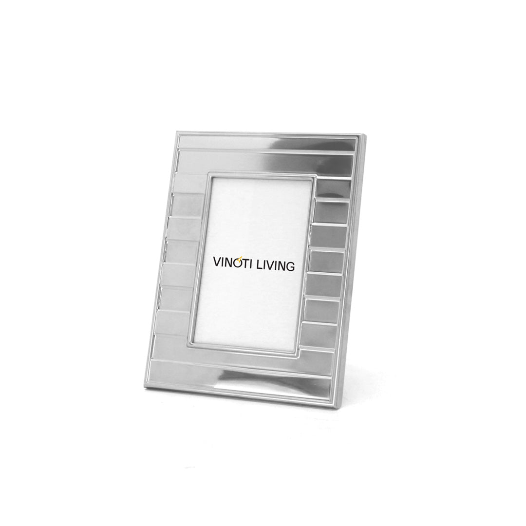 Aliya Bars Photo Frame - Silver