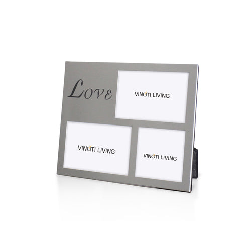 photo frame - Aliya Love Photo Frame - Silver - vinoti living - decor dan accessories di indonesia