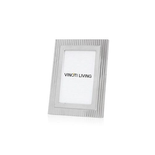 photo frame - Aliya Stripes Photo Frame - Silver - vinoti living - decor dan accessories di indonesia