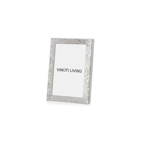 Aliya Textured Photo Frame - Silver