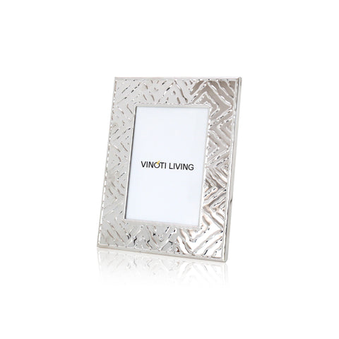 Aliya Zigzag Photo Frame - Silver