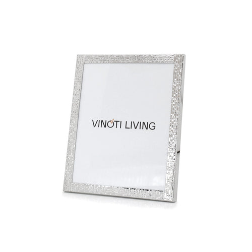 photo frame - Aliya Textured Photo Frame - Silver - vinoti living - decor dan accessories di indonesia
