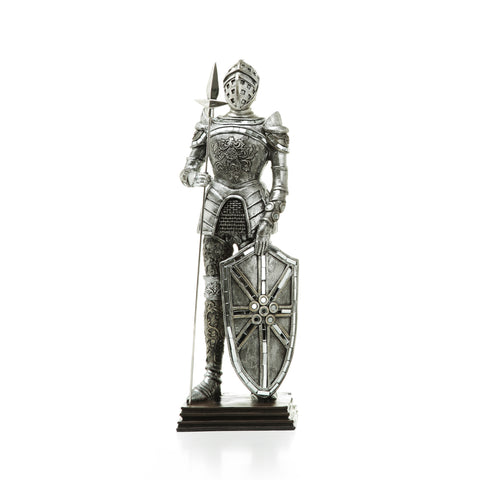 silver knight figurine home accessory