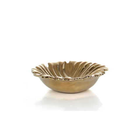 Aura Floral Plate Gold