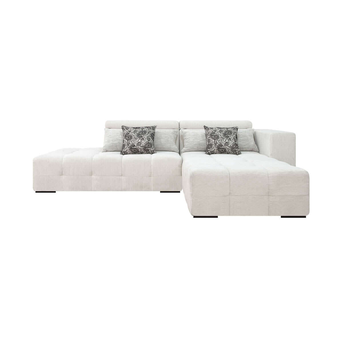 sofa with two and a half seats and movable headrest