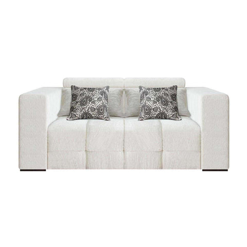 two seater sofa with movable headrest