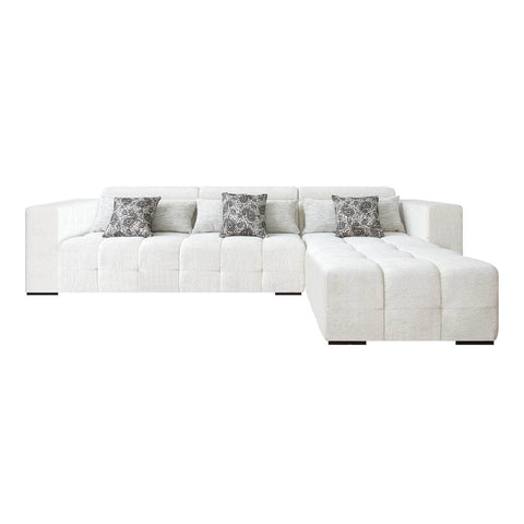 l shape three seat sofa with headrest