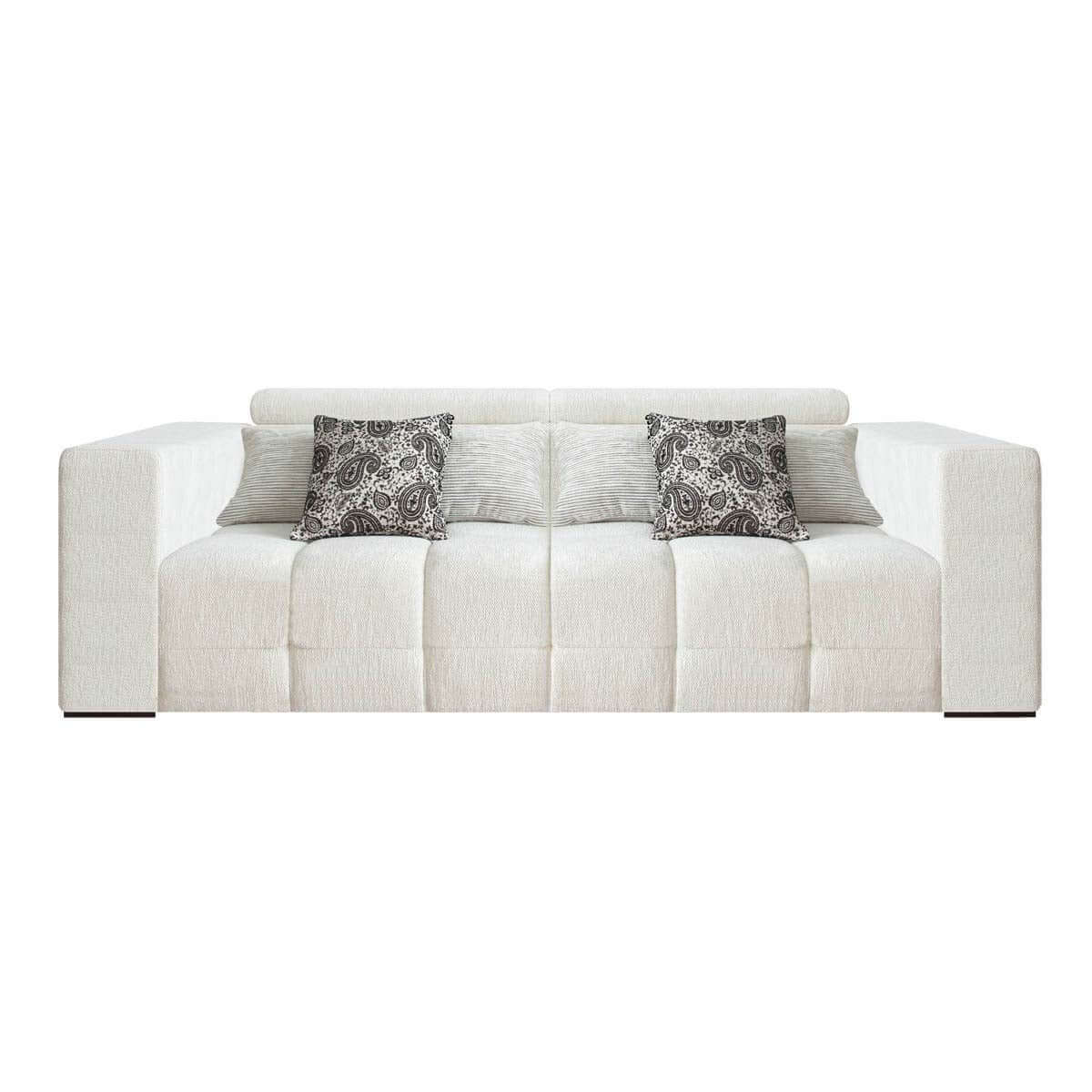 three seat sofa with movable headrest