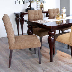 furniture surabaya palembang dining chair buttons and wood legs