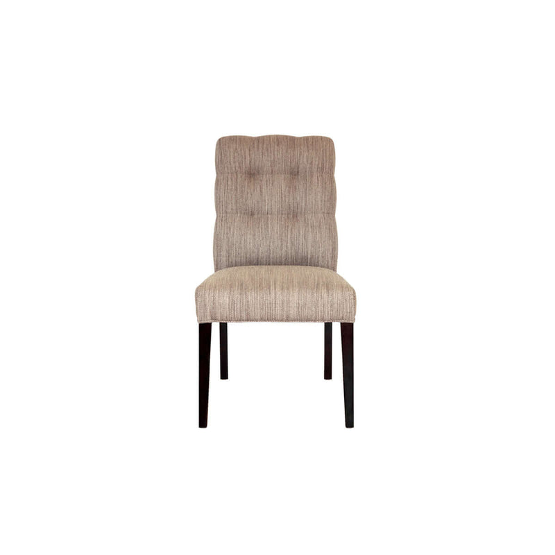 tufted dining chair with a parsons style with wooden legs