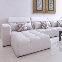 l shape three seat sofa with headrest 3 seater