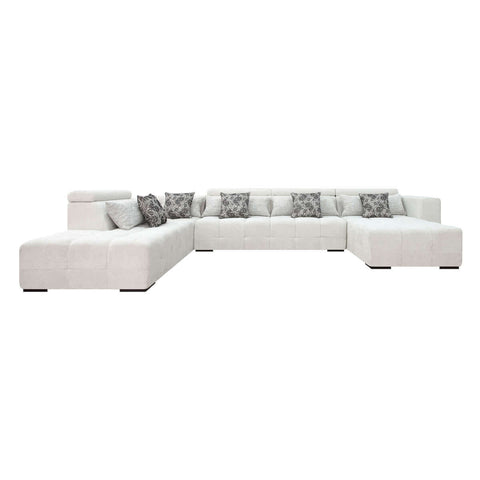 sofa u shape with movable headrest