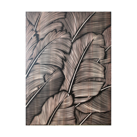 Banana Leaves - Black/ Natural