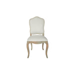 vintage french dining chair with wooden trim