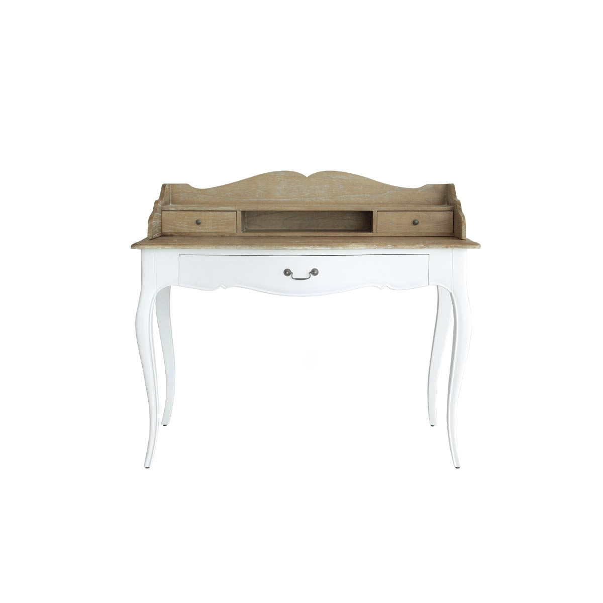 wood furniture study desk meja curvy legs